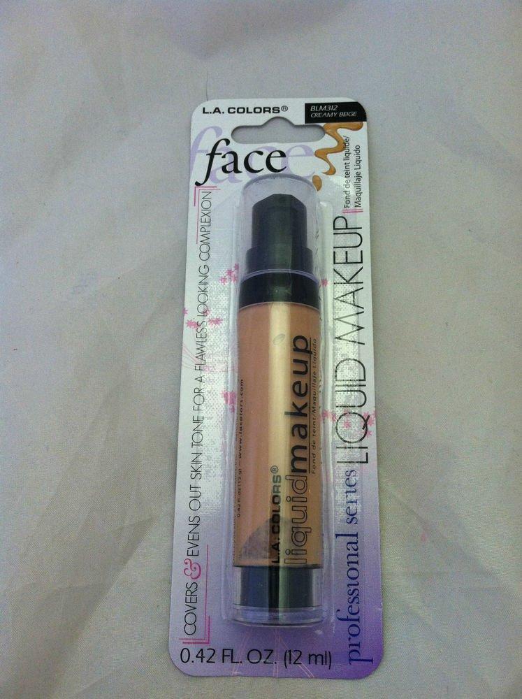 L.A. Colors Liquid Makeup BLM312 *CREAMY BEIGE* Covers & Evens Out Skin Tone NEW