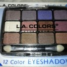 L.A. Colors 12 Color Eyeshadow Palette Set * BEP422 GLAMOROUS * Long Lasting New