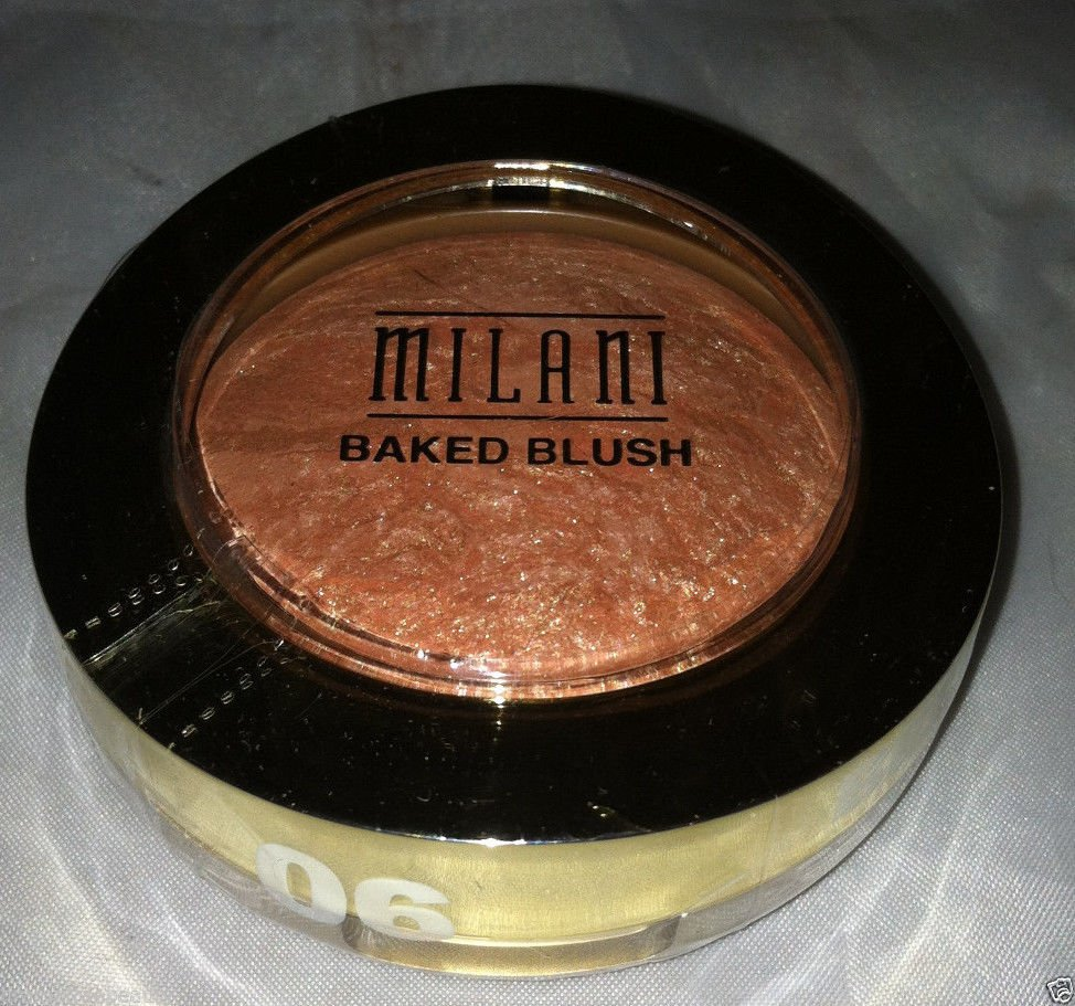 Milani Baked Powder Blush 06 *BELLISSIMO BRONZE* Peach Bronze Gold Shimmer B.New