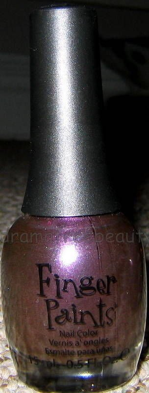 Finger Paints FALL Nail Color Polish *WHOSE HUE?* Deep Dark Vampy Purple Shimmer