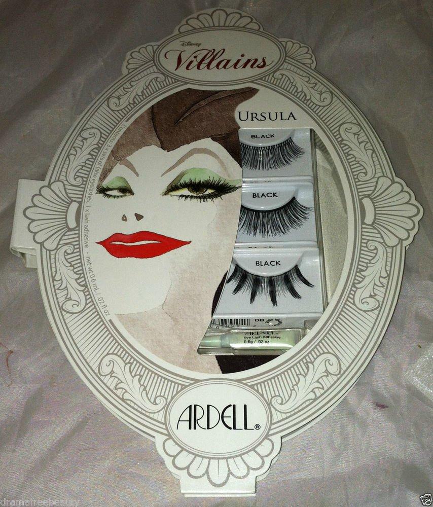 Disney Villains Ardell *URSULA*  Black Eye Lash Kit/Set 3 Designs w/Adhesive NIB