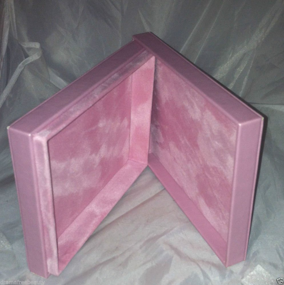 """Mally Pink Faux Leather Empty Gift Box 6.5"""" X 5"""" X 1"""""""