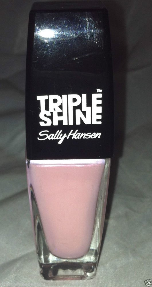 Sally Hansen Triple Shine Nail Polish * 120 CLAM UP * Light Pink w/Shimmer New