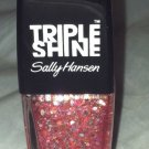Sally Hansen Triple Shine * 310 TWINKLED PINK * Sheer Pink w/Rose Gold Hex Micro