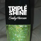 Sally Hansen Triple Shine * 340 SCALE UP * Sheer Green Iridescent Flakes w/Gold