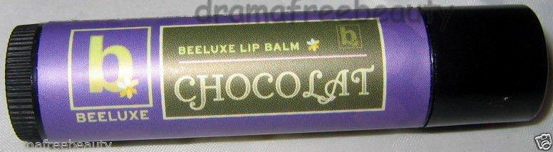 Beeluxe Organic Chocolat *CHOCOLATE* Beeswax Natural Clear Moisture Lip Balm BN