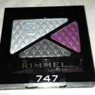 Rimmel London Glam Eyes Trio Eye Shadow * 747 DARK ANGEL * Sealed Brand New