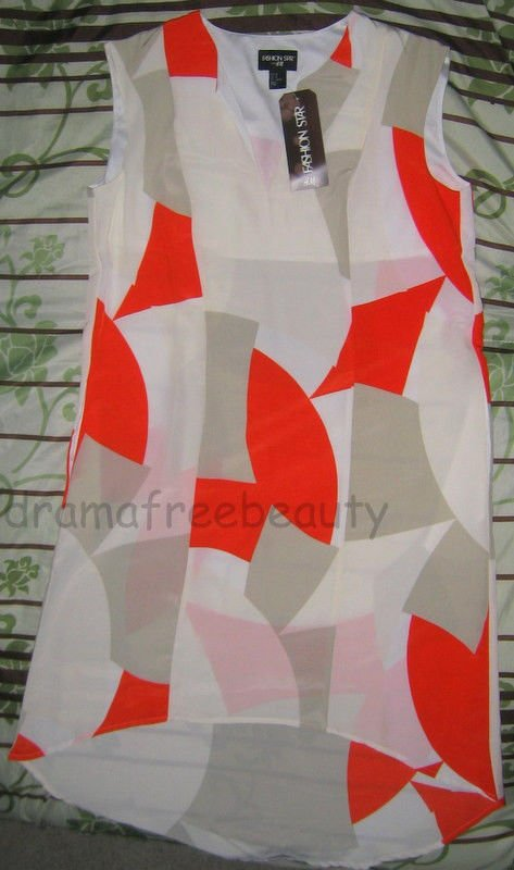 Fashion Star Kara Larick *H&M Printed Siri Top/Tunic Pocket Dress* Size 10 BNWT