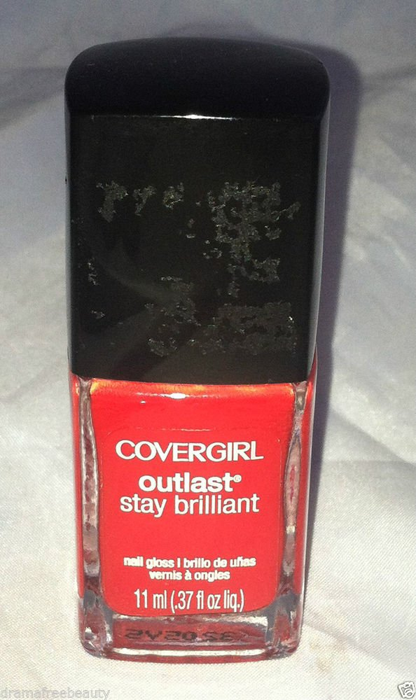 CoverGirl Outlast Stay Brilliant Nail Polish * 175 EVER REDDY * Bright Red New