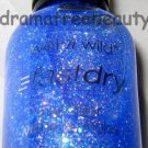 Wet n Wild PARTY ROCKS FastDry Nail Polish *BLING IT ON* Blue Jelly MultiGlitter