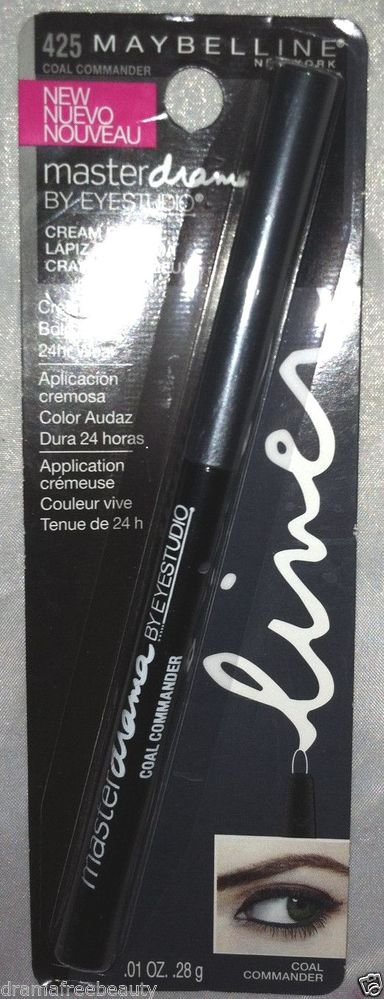 B.New Maybelline Master Drama Mechanical 24HR Cream Pencil *#425 COAL COMMANDER*