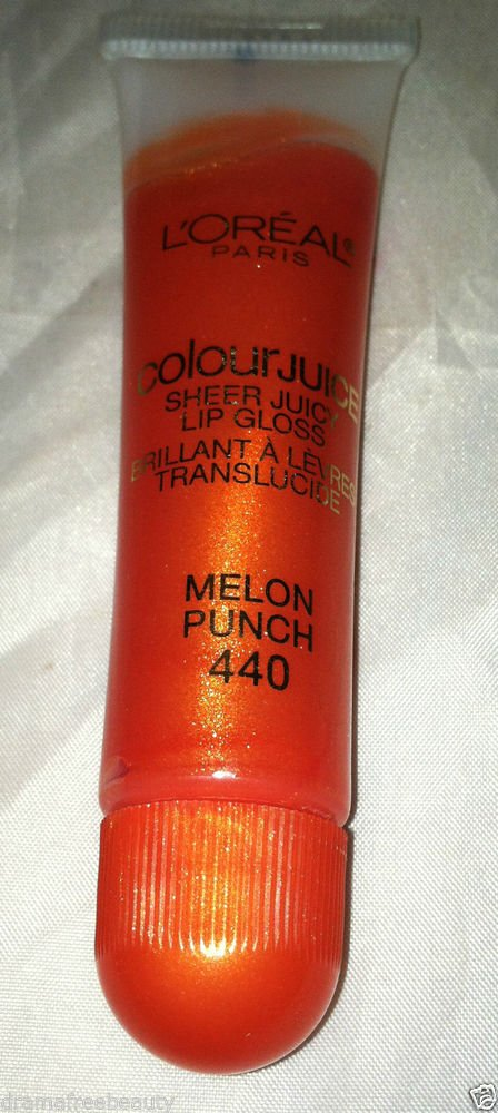 L'Oreal Colour Juice Sheer Juicy Lip Gloss * 440 MELON PUNCH *  Brand New