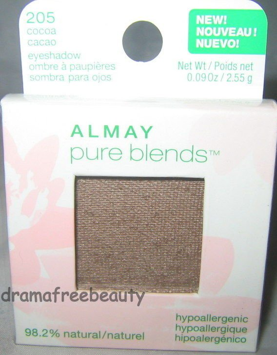 Almay Pure Blends 98% Natural Eyeshadow *205 COCOA* Taupe Brown Brand New Sealed