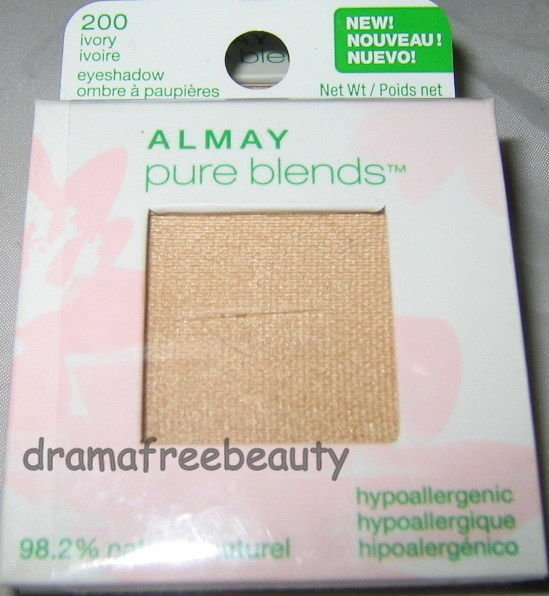 Almay Pure Blends 98% Natural Eyeshadow *200 IVORY* Cream Sheen Brand New Sealed