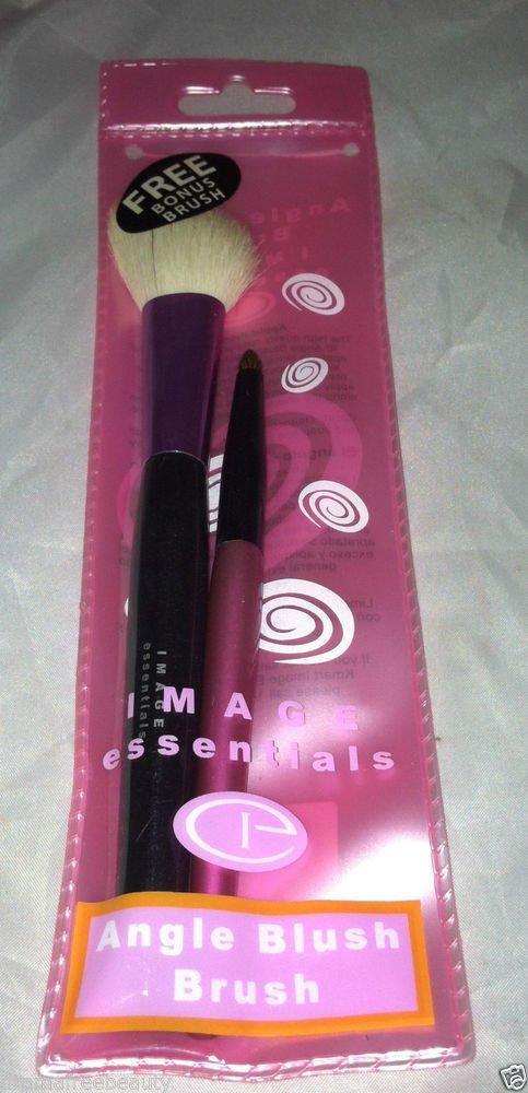 Image Essentials Angle Blush Brush Free Bonus Brush Natural Hair Fibers BNIP