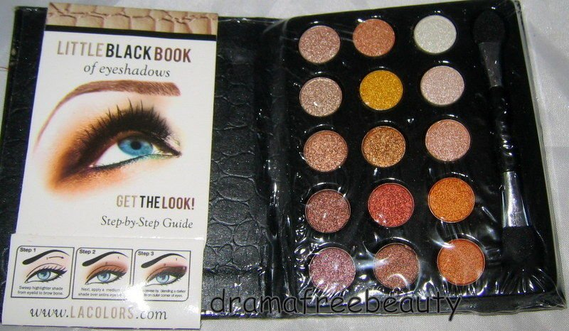 L.A. Colors LITTLE BLACK BOOK of15 Eyeshadows *NATURAL Edition* Palette BNSealed