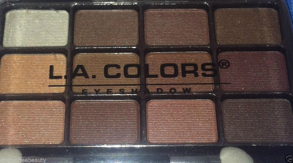 L.A. Colors 12 Color Eyeshadow Palette Set * BEP421 TRADITIONAL * Long Lasting