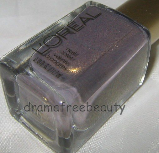 L'oreal Lmt Ed Colour Riche Nail Polish 116 *BRIT INVASION* Taupe w/Gold Shimmer