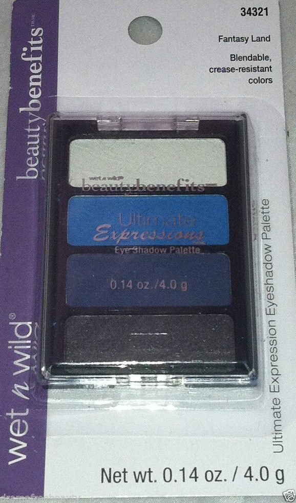 Wet n Wild Ultimate Expression Eyeshadow Palette Quad *FANTASY LAND* Smoky Blue