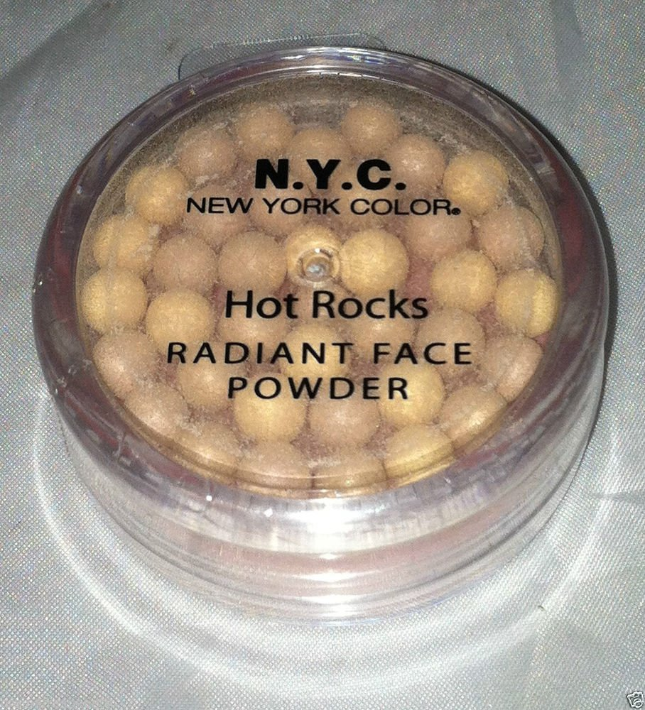 N.Y.C. Hot Rocks Radiant Face Powder * MOONLIGHT Pigment Balls New