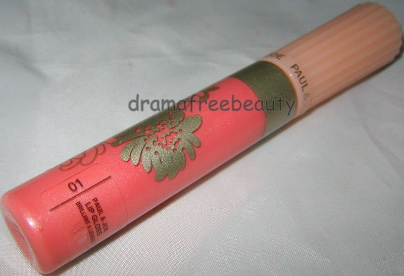Paul & Joe Lipgloss in *01 Peach Pink* Peachy Pink w/Shimmer Brand New Full Size