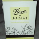 FLORA by Gucci Eau De Toilette Sample/Travel Vial 2mL Brand New Carded