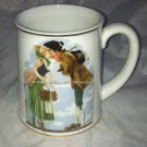 Norman Rockwell Rare Wind Up Musical Coffee Cup * THE MILKMAID  * Wedding Song