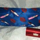 HauteLook Cosmetic/Makeup Bag & Mirrored Lipstick Case New Lipstick/Lips Design