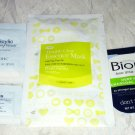 4pc Travel/Sample Acne Treatment  Lot Biore Deep Pore DHC Cettua Essence Mask BN
