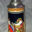 Marzi and Remy Antique Made In Germany Beer Stein Pweter Top Lidded Collector