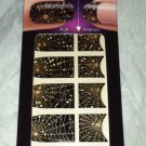 Kiss Nail Dress/Stickers Full and French Design Spider Web 32 Stripes Brand New