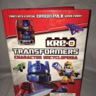 Kre-O Transformers Character Encyclopedia Comic/Checklist Book w/ORION PAX Kreon