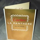 Cartier Eau De Parfum * LA PANTHERE *  Travel Sample Carded New