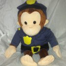 "Russ Berrie 12"" Policeman Curious George Plush Stuffed Toy Animal VHTF EUC"