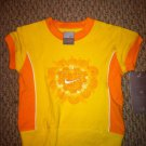 Nike Girls 2T 24 Months *Biking Yellow/Orange Heart Short Sleeve Shirt Top* BNWT