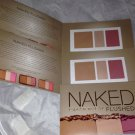 Urban Decay NAKED Bronzer Highlighter & Blush in *FLUSHED* 3 Sample/Travel Cards