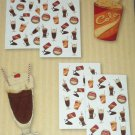 Scratch and Sniff Stickers Autocollants 60pc * COLA * Scented 4 Sheets BNIB