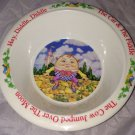Vintage 1976 Fraser Melamine Nursery Rhyme Bowl Humpty Dumpty HEY DIDDLE Cat Cow