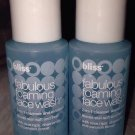 Bliss Fabulous Foaming Face Wash 2-in-1 Cleanser Exfoliator 2 X 1oz Mini Lot Set