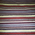 Red/Purple/Off-White Striped Sewing Fabric 2yds X 1.5yds Knit Stretch Cotton