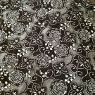 "Stella Star ~STELLA SWIRL~ Brown/White Stretch Cotton Fabric Material 108"" X 60"""