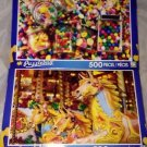 2 Puzzlebug 500 Pieces *CANDIES GALORE &FUN FAIR CAROUSEL* Puzzle Lot Sealed New