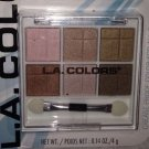 L.A. Colors 6 Color Eyeshadow Palette Set BEP434 *ALMOST NUDE* Browns BN &Sealed