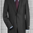 High-quality construction Two-Button Darkest Charcoal Gray Super 150 fine Wool