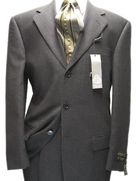 Men's Charcoal Gray 1 Wool 3 Buttons Super 120's Suit  For more info : Check out www.mensusa.com