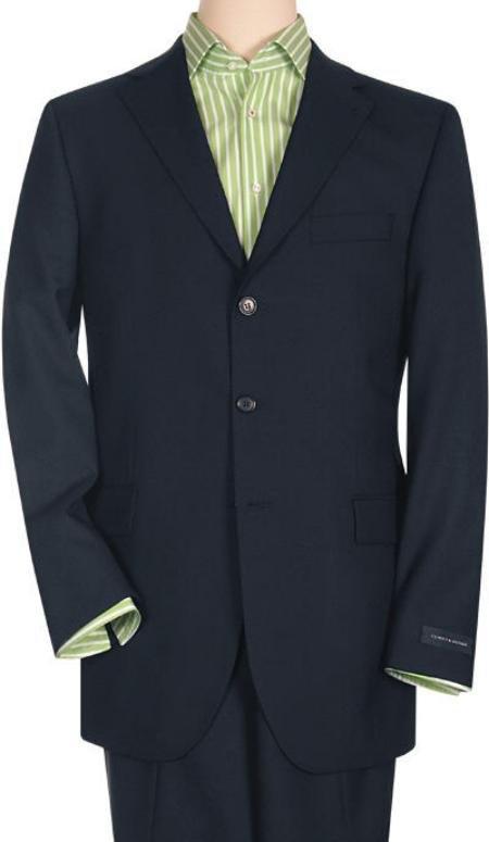 Men's Velvet Lanzini Dark Navy Super 150's Virgin Wool premeier quality italian fabric Design