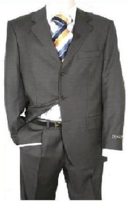 Dark Charcoal Gray Men's Single Breasted iscount Dress 2or3or4 Button Suit