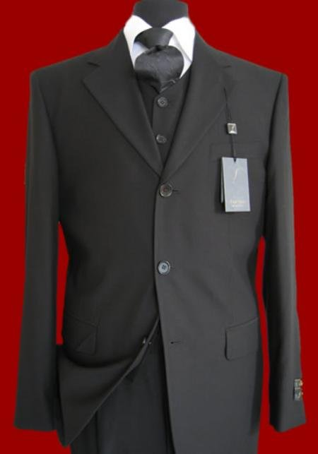 3 or 4 Buttons high Vested 3PC Mens Suits in All Color
