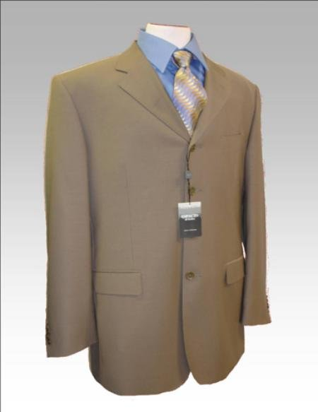 Dark Tan~Coffe~Taupe~Mocca Wool Blend 3 Button Suit