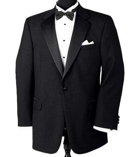 Super 150's Wool premeier quality italian fabric Design 1 Button Tuxedo jacket